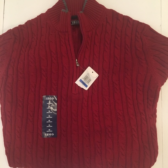 68% off Izod Other - Izod Men's 1/4 Zip Cable Knit Sweater Size XL ...